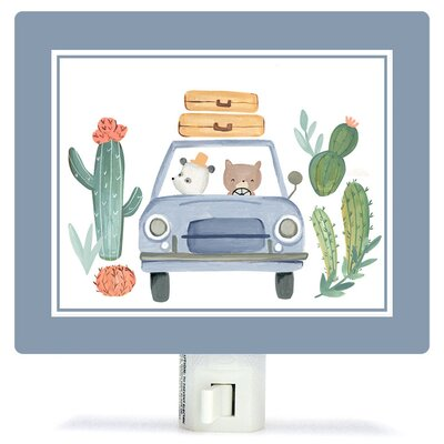 Non-Personalized Best Friends on the Road Canvas Night Light