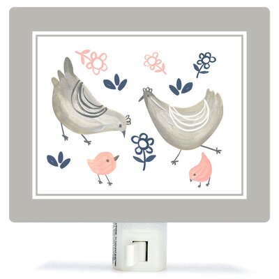 Non-Personalized Little Chickens Canvas Night Light