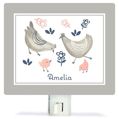 Personalized Little Chickens Canvas Night Light
