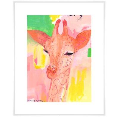 Dionysus Cotton Candy Giraffe Paper Print Size: 12.5