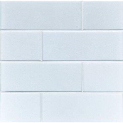 8 x 3 Sparkling Tile in Snow