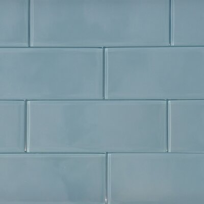 8 x 3 Shiny Shadow Tile in Blue