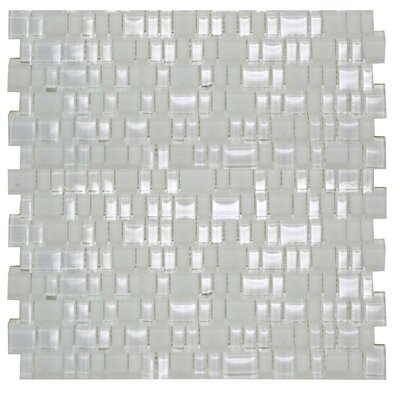 Mini Mix Shiny and Satin Mosaic Tile in Mist