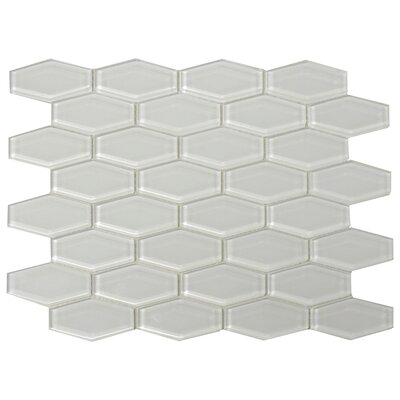 3 x 1 Shiny Hexagon Tile in Mist