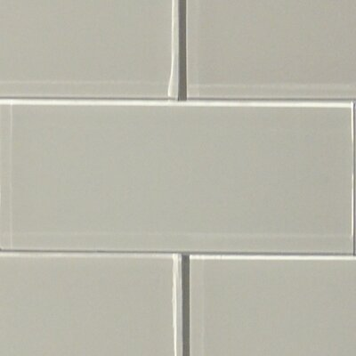 Shiny 4.75 x 13 Glass Field Tile in Mist