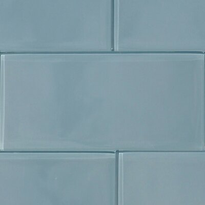 Shiny 4.75 x 13 Glass Field Tile in Blue