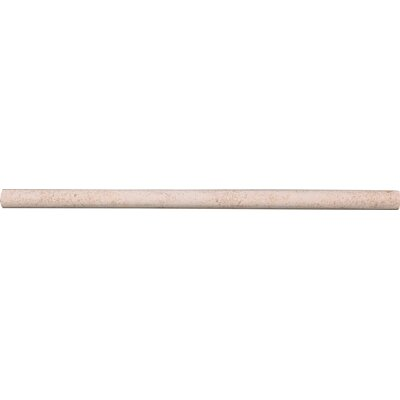 12 x 5/8 Limestone Bullnose Tile Trim in Sable
