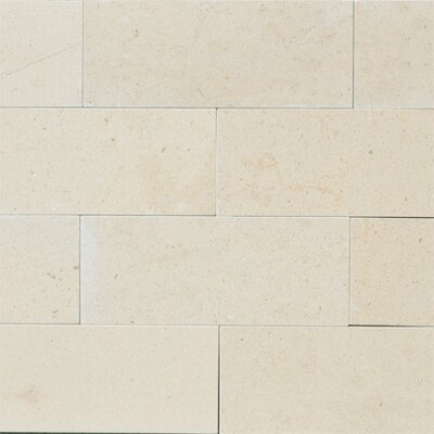 Osso 3 x 8 Limestone Subway Tile in Creamy Latte