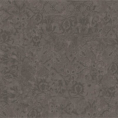 Tapis Gris Fonce 23.5 x 23.5 Porcelain Fabric Look Tile in Dark Gray