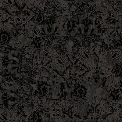 Tapis Noir 23.5 x 23.5 Porcelain Fabric Look Tile in Black