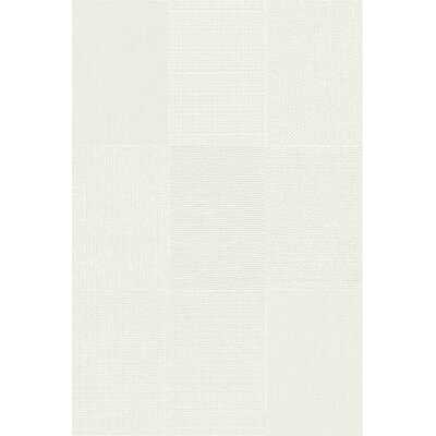 Makar Italian 4.75 x 7 Ceramic Fabric Look/Field Tile in White