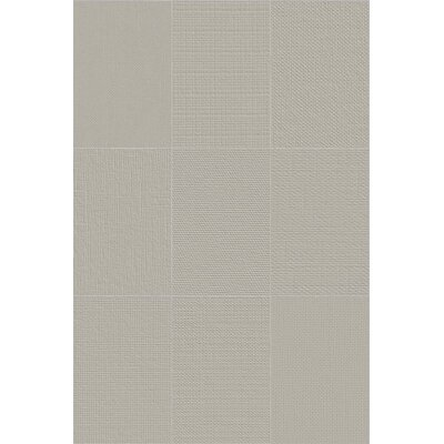 Makar Italian 4.75 x 7 Ceramic Fabric Look/Field Tile in Gray