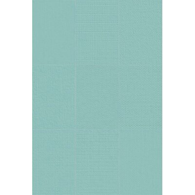 Makar Italian 4.75 x 7 Ceramic Fabric Look/Field Tile in Seafoam