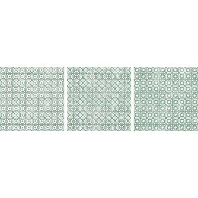 Bargello 8 x 8 Porcelain Field Tile in Green