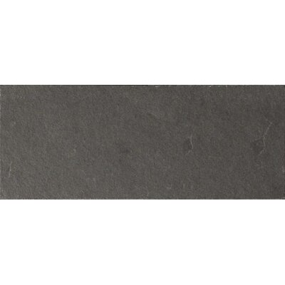 Black Bliss 3 x 8 Slate Field Tile in Black