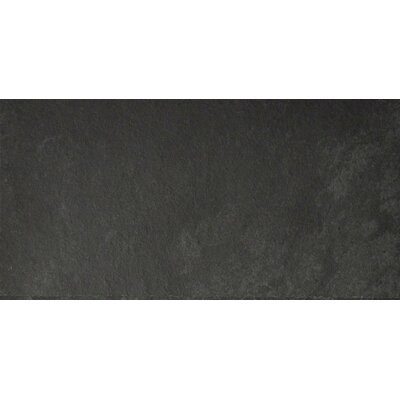 Black Bliss 6 x 12 Slate Field Tile in Black