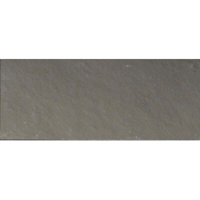 Pewter 3 x 8 Slate Field Tile in Gray
