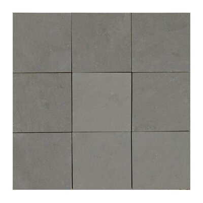 Pewter 4 x 4 Slate Field Tile in Gray