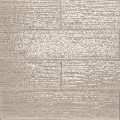 Linen Textured 3 x 12 Glass Subway Tile in Mist