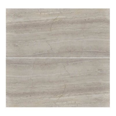 Cerro Hudson 6 x 12 Marble Wood Look/Field Tile in Gray