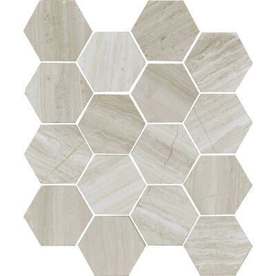 Cerro Hudson 3 x 3 Marble Field Tile in Gray