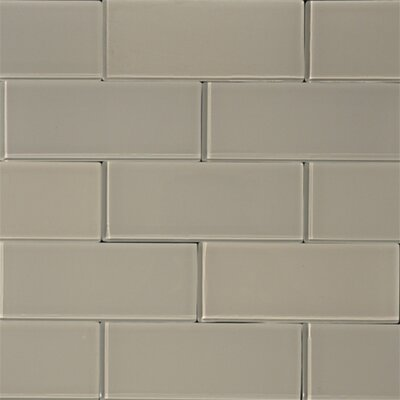 3 x 8 Glass Subway Tile in Mist