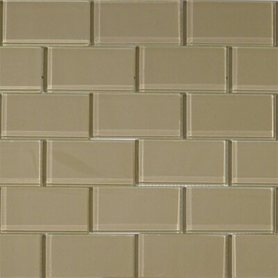 2 x 4 Glass Subway Tile in Wheat