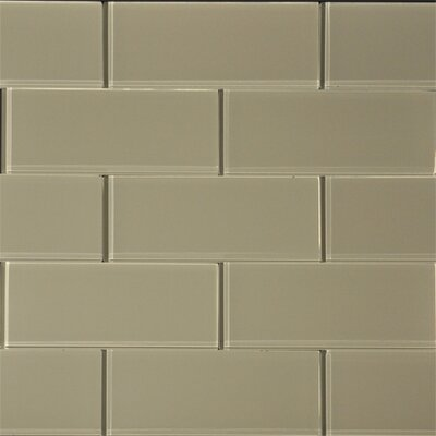 3 x 8 Glass SubwayTile in Wheat
