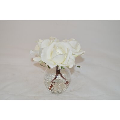 Rose Buds in Glass Vase