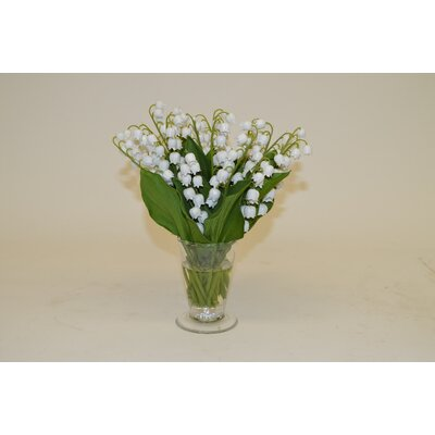 White Lily of The Valley in Parfait Vase
