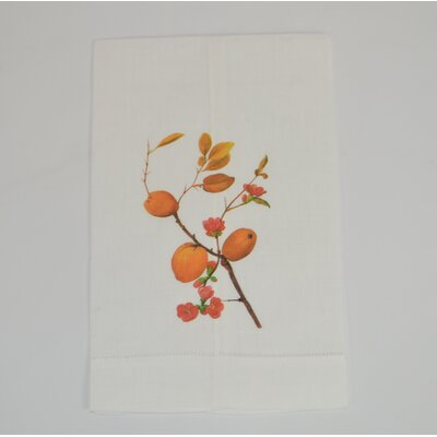 Hemstitched Quince Linen Hand Towel (Set of 2)