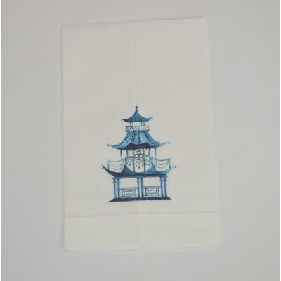 Hemstitched Pagoda Linen Hand Towel (Set of 2)