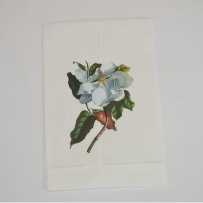 Hemstitched Magnolia Linen Hand Towel (Set of 2)