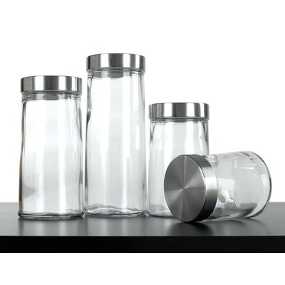Euro-ware 4 Piece Glass Plain Canister Set