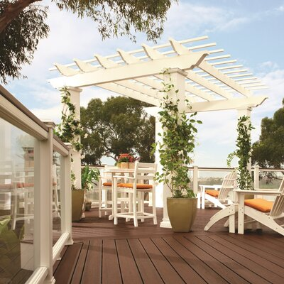 """Trex Pergola Freestanding 9' 6"""" H x 18' W x 18' D Pergola with High Square Columns - Color: Rope Swing at Sears.com"""