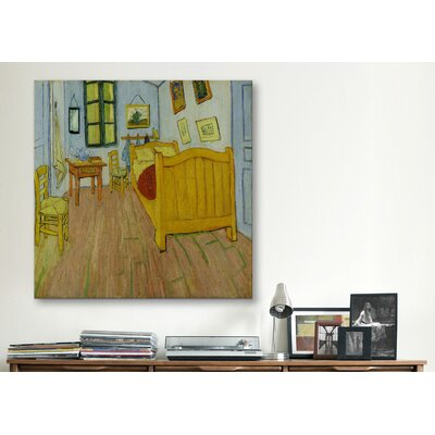 """Bedroom in Arles"""" by Vincent van Gogh Painting Print on Canvas 14401-1PC3-12x12"""