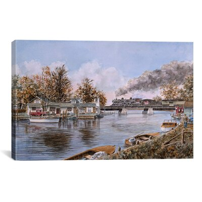 'Belle River, Ontario' by Stanton Manolakas Painting Print on Canvas Size: 12