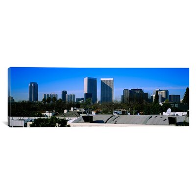 Panoramic Buildings and Skyscrapers in a City, Century City, City of Los Angeles, California Photographic Print on Canvas