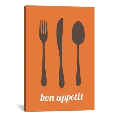 Kitchen Bon Appetit Graphic Art on Canvas KCH2-1PC3-12x8