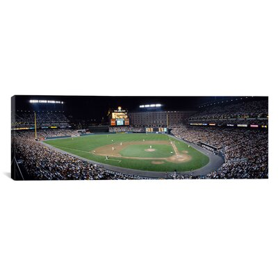 Panoramic Baseball Game Camden Yards Baltimore, MD Photographic Print on Canvas Size: 16