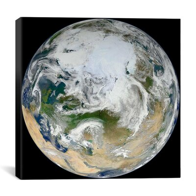 """iCanvasART Blue Marble - Arctic View Canvas Wall Art - Size: 37"""" H x 37"""" W x 1.5"""" D at Sears.com"""