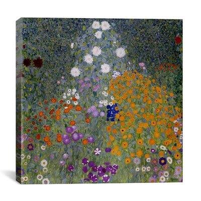 'Bauerngarten (Flower Garden)' by Gustav Klimt Painting Print on Canvas Size: 18