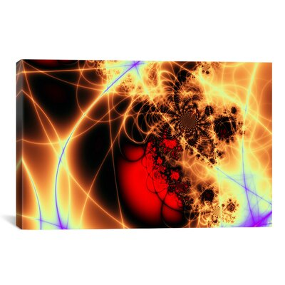 Digital Beating Heart Graphic Art on Canvas Size: 18