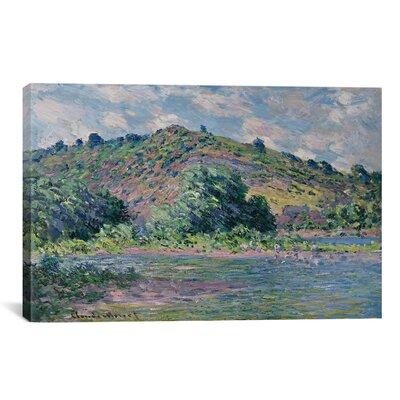'Bords de la Seine a Port-Villez 1885' by Claude Monet Painting Print on Canvas Size: 26