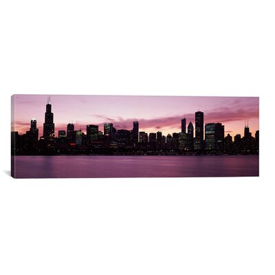Panoramic Buildings at the Waterfront, Lake Michigan, Chicago, Illinois, 2011 Photographic Print on Canvas Size: 20