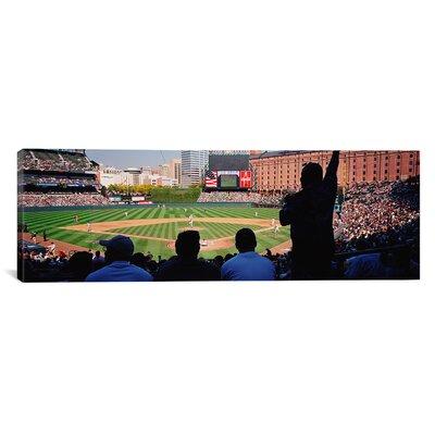 Panoramic Camden Yards Baseball Game Baltimore, Maryland Photographic Print on Canvas Size: 20
