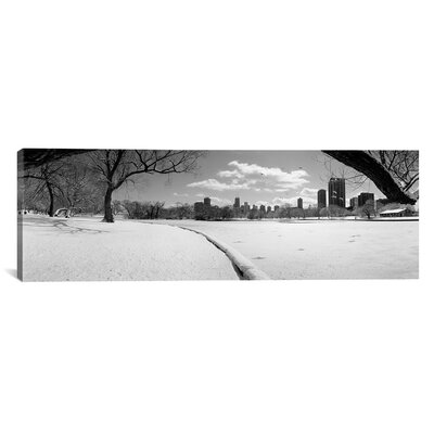 """iCanvasART Panoramic Buildings in a City, Lincoln Park, Chicago, Illinois Photographic Print on Canvas - Size: 12"""" H x 36"""" W x 1.5"""" D at Sears.com"""
