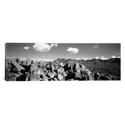 Panoramic Boulders on a Landscape, Saguaro National Park, Tucson, Arizona Photographic Print on Canvas Size: 30