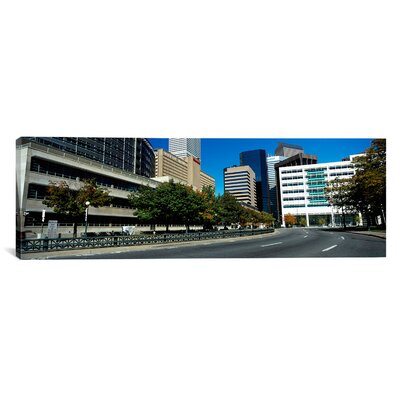Panoramic Buildings in a City Denver, Colorado Photographic Print on Canvas Size: 16