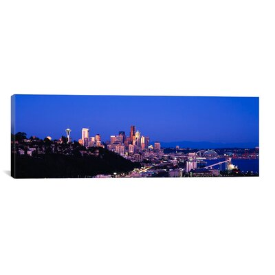 Panoramic Buildings in a City, Elliott Bay, Seattle, Washington State 2010 Photographic Print on Canvas Size: 20